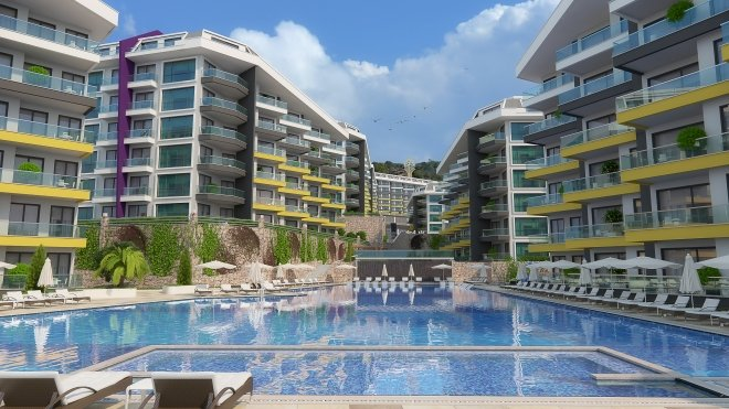 Apartments for rest and residence in a luxury residential complex