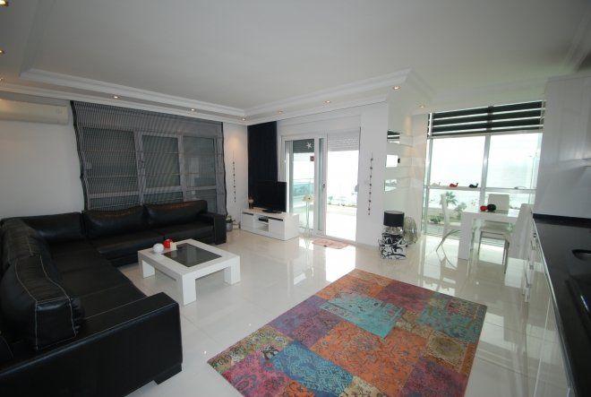 2+1 Роскошная благоустроенная  квартира с видом на море